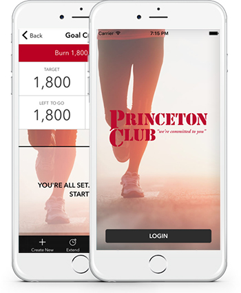 Image showing the Princeton club App graphic on iPhones